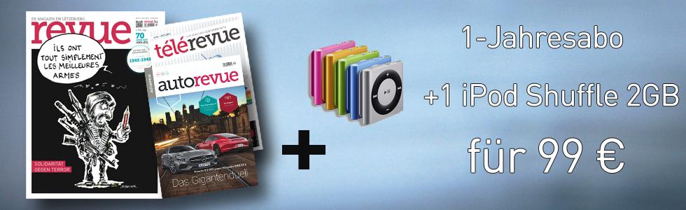 1-Jahresabo + 1 iPod Shuffle 2GB